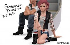 Sims 3 shoes, boots, fashion, female, male, sims3