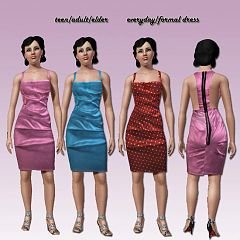 Sims 3 fashion, clothing, clothes, sims, women, satin, dress