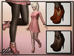 Sims 3 boots, shoes, high heels, female, sims3