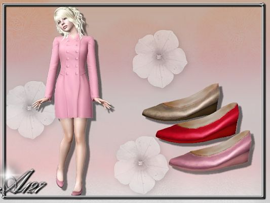 Sims 3 shoes, footwear, wedge