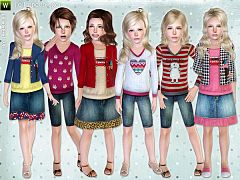 Sims 3 cloth, clothing, outfit, kids