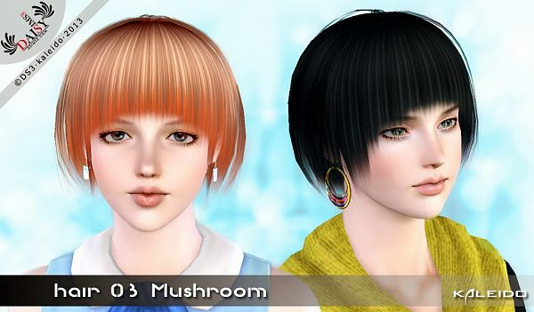 Sims 3 hair, hairstyle, genetics, female, male, sims3