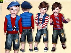 Sims 3 toddler, outfit, clothing, sims3