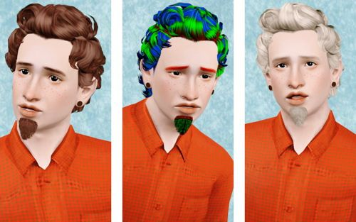 Sims 3 hair, hairstyle, male, retexture