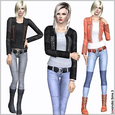 Sims 3 leather, jacket, suds, clothing, fashion, top