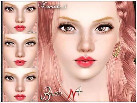 Sims 3 blush, makeup, female, male, sims3