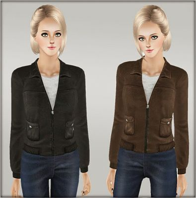 Sims 3 jacket, clothing, top, leather