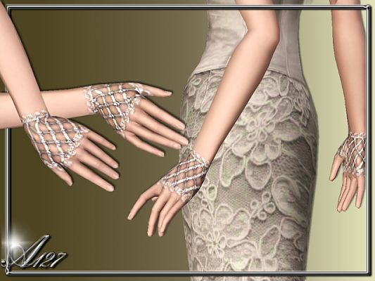 Sims 3 lace, gloves, accessory