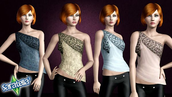 Sims 3 top, clothes, fashion, females