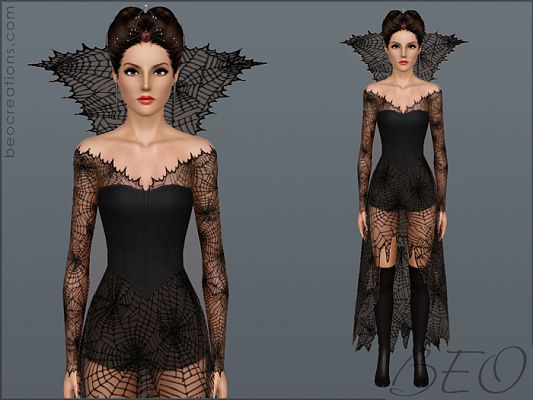 Sims 3 dress, outfit, clothing, fashion, halloween, female, sims3