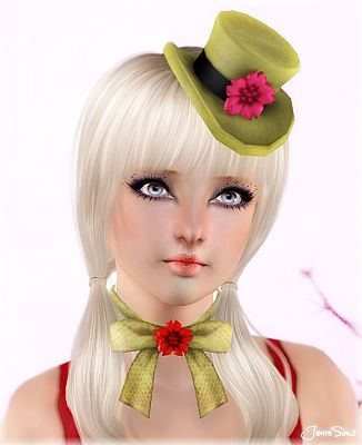 Sims 3 hat, accessories, necklace, sims3