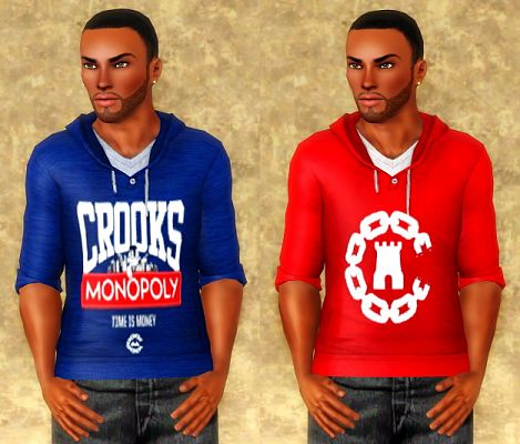 Sims 3 shirt, male, clothing, top