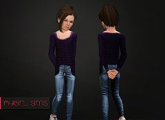 Sims 3 sweater, knit, top, female, child