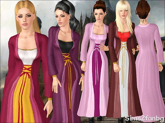 Sims 3 halloween, dress, costume