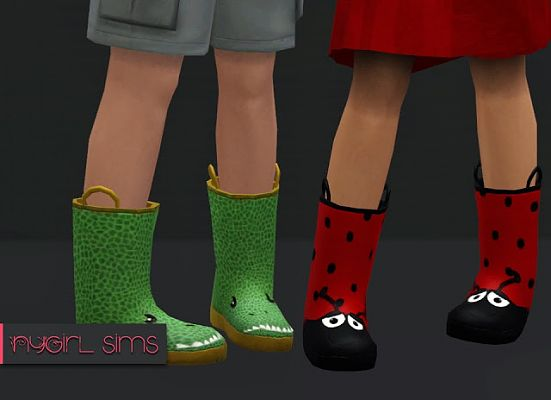 Sims 3 boots, shoes, kids