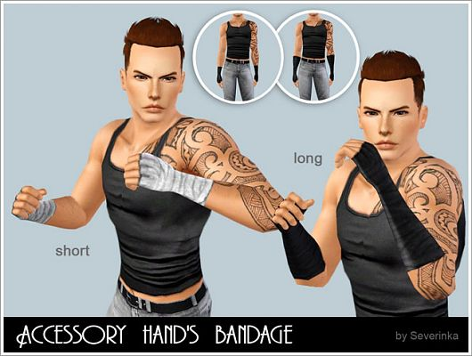 Sims 3 bandage, accessory,hand