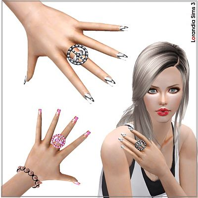 Sims 3 jewelry, ring, accessory, peace