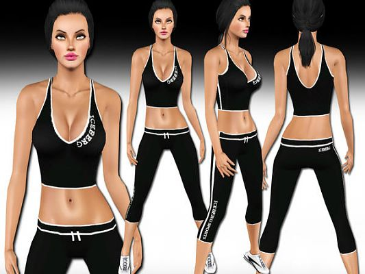 Sims 3 sport, athletic, clothes
