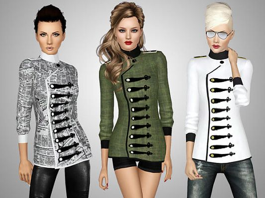 Sims 3 jacket, top, females