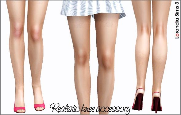 Sims 3 knee, red knee, accessory