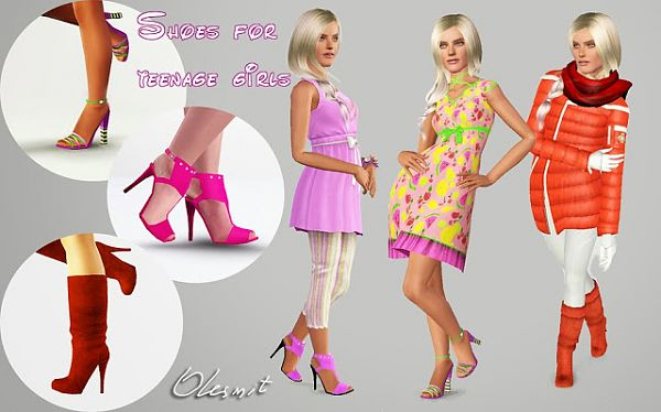 Sims 3 shoes, boots, sandals
