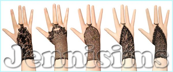 Sims 3 gloves, accessories, female