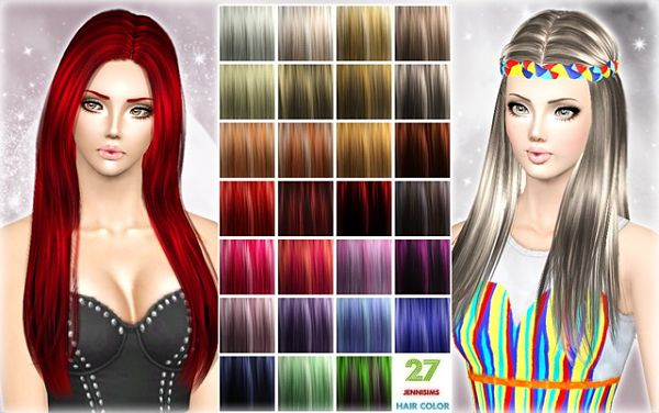 Sims 3 hair, color,palet