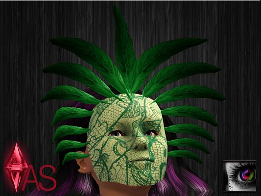 Sims 3 mask, feather