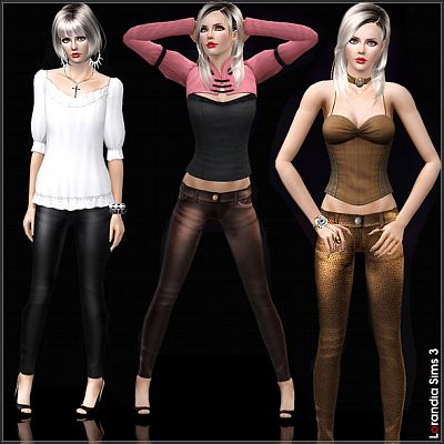 Sims 3 pants, leather, bottom, clothing