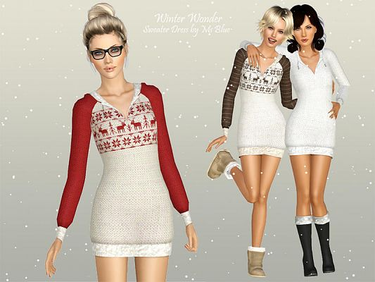 Sims 3 outfit, sweater, top, clothing, female
