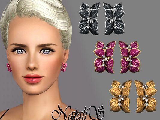 Sims 3 earrings, jewelry, accessories, fashion, female, sims3