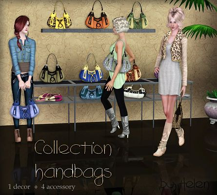 Sims 3 handbag, accessory, decor
