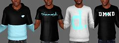 Sims 3 cloth, clothing, hoodie, top, tee