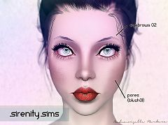 Sims 3 eyebrows, brows, genetics, blush, makeup, sims3