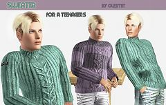 Sims 3 male, sweater, top, clothing, sims3