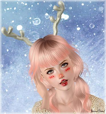 Sims 3 accessories, headwear, santa nose, fashion, female, sims3