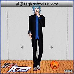 Sims 3 uniform, males, high school
