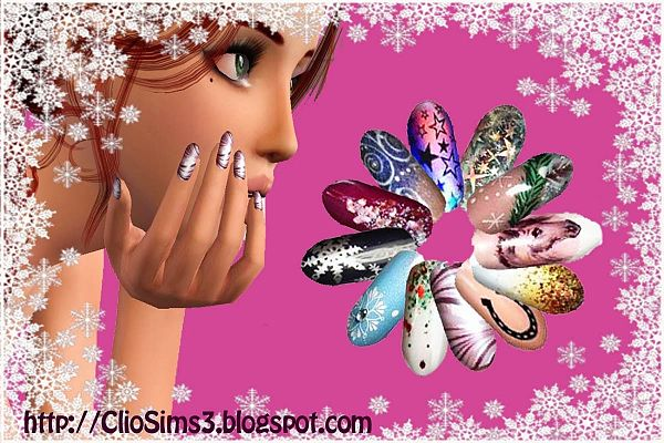 Sims 3 nails, accessories, female