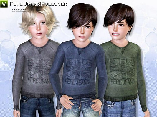 Sims 3 clothing, male, outfit, child
