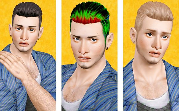Sims 3 hair, hairstyle, retexture, male