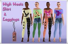 Sims 3 leggings, accessory, fashion, shirt