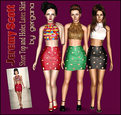 Sims 3 skirt, outfit, fashion, female, clothing, sims3