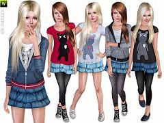 Sims 3 cloth, clothing, outfit, sport