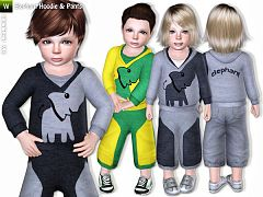 Sims 3 cloth, clothing, outfit, sport, casual, set