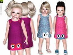 Sims 3 dress, outfit, clothing, toddlers, female, sims3