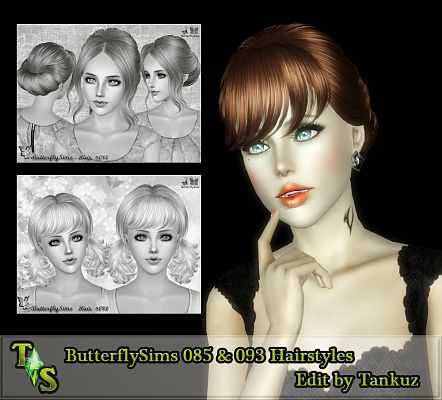 Sims 3 hair, hairstyle, female, edit