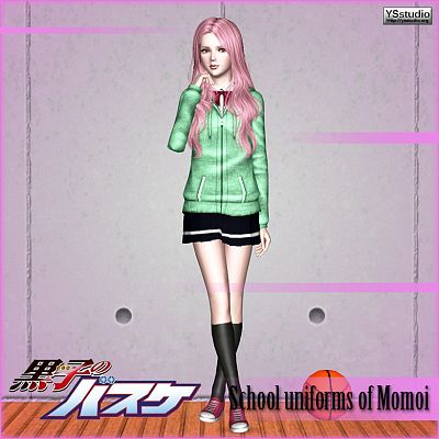Sims 3 uniform, females, school