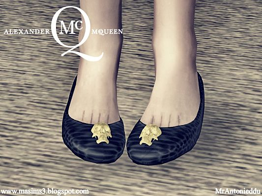Sims 3 shoes, footwear, flats