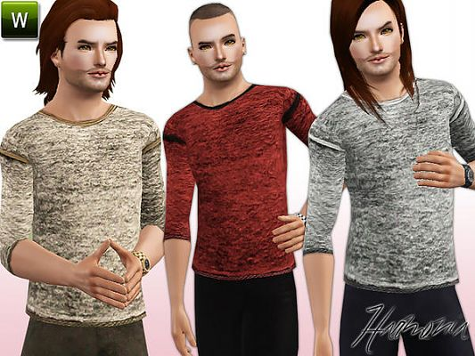 Sims 3 top, clothes, fashion, males