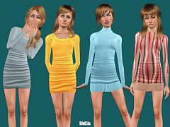 Sims 3 dress, teen, outfit, clothing, fashion, female, sims3